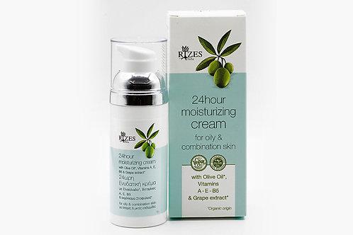 24ωρη ενυδατική κρέμα για λιπαρό δέρμα / 50 ml