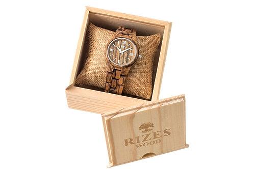 Wooden watch zebrawood
