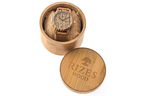 Ξύλινο ρολόι χειρός zebrawood