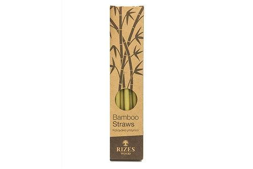 Set bamboo straws 6 pcs - small size