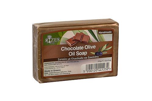 Σαπούνι ελαιόλαδου με σοκολάτα / 100 γρ