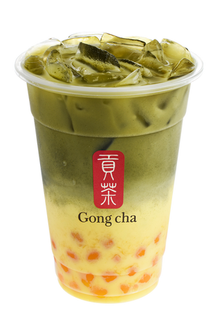 Matcha Mango Pearl Tea