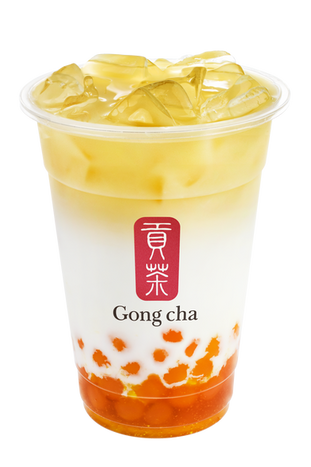 Mango Pearl Green Tea Latte