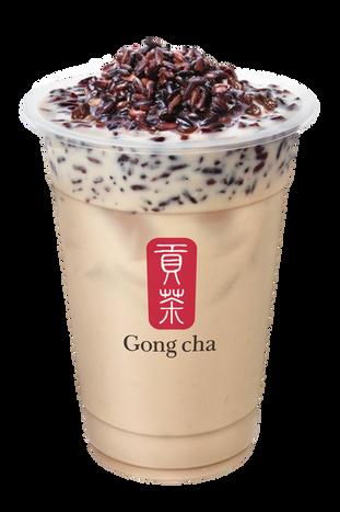 Sticky Purple Rice Milk Tea