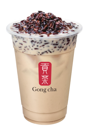 Sticky Purple Rice Milk Tea
