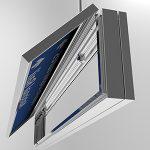 Atidaryta šviesdėžė, kad pakeisti LED apšvietimą