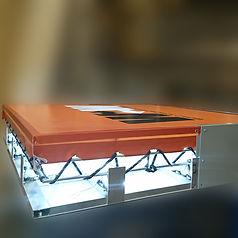 Textil Leuchtkasten in dem Produktionsstätten, versandbereit