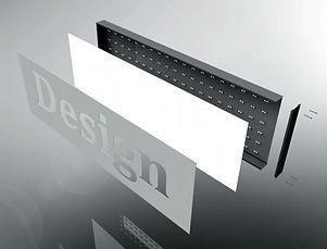 Acrylglas Leuchtkasten Komponenten
