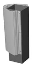 Profilių pilonams, motavimo profilis ant vidinės konstrukcijos