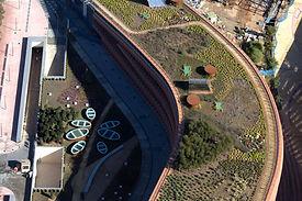 Impermeabilizacion con poliurea de cubierta verde ajardinada en España.