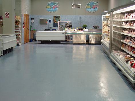 pavimento limpio sala blanca supermercado poliurea