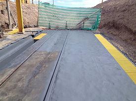 pavimento de poliurea en estacion de descarga de acido