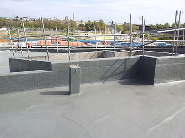 Impermeabilizacion poliurea en caliente de cubierta verde/ajardinada.