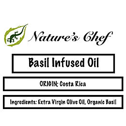 Basil Infused Olive Oil    8oz