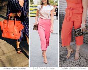 Women standing with handbags
