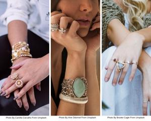 Women wearing stylish rings