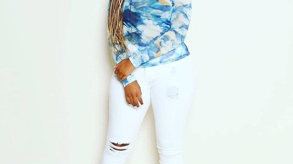 Blu Sheer Top