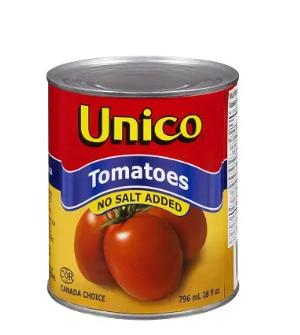 Unico tomatoes no salt - 796ml