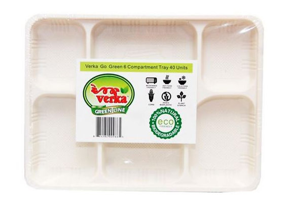Verka Green Line 6 Compartment Tray