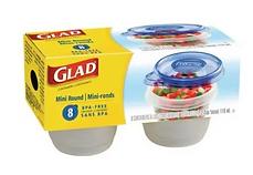 Glad mini round - 8pc