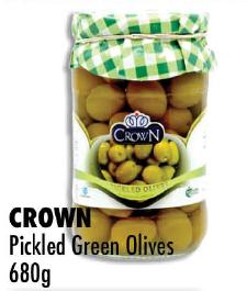 CROWN Pickled Green Olives 680G