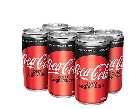 Cocacola Zero Sugar/Sucre 222mlx6