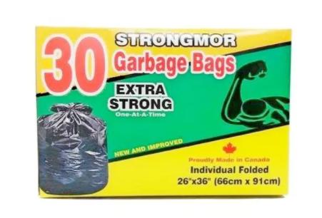Strongmor garbage bags - 30pcs