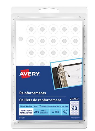 Avery� Permanent White Reinforcements Labels