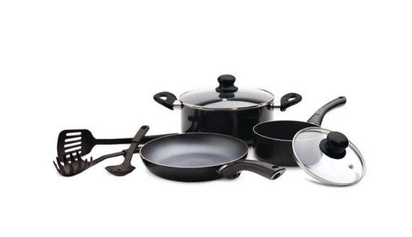 Starbasix - Non-stick aluminum 8pc cookware set