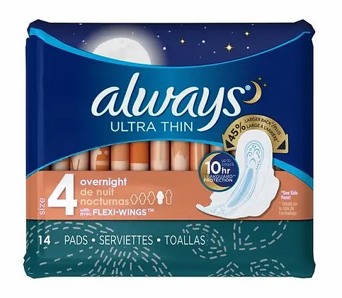 Always ultra thin overnight - 14pads
