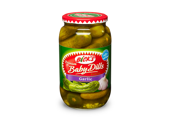Bick's Pickled Baby Dills (Garlic) 500ml