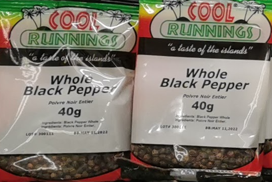 Cool Runnings Whole Black Pepper 40g
