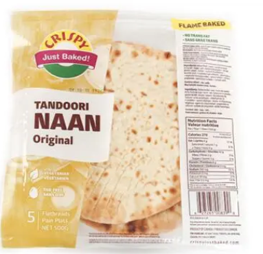 CRISPY NAAN - TANDOORI ORIGINAL -500g_5-pk
