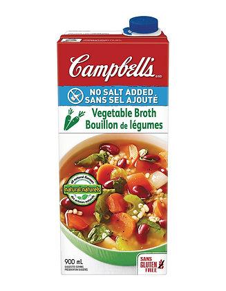 Campbell's - Vegetable Broth (No Salt Added) 900ml