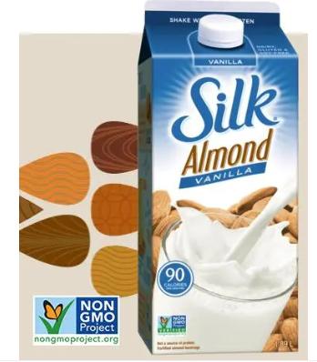 Silk Vanilla Almond Beverage Vanilla Flavor 1.89L