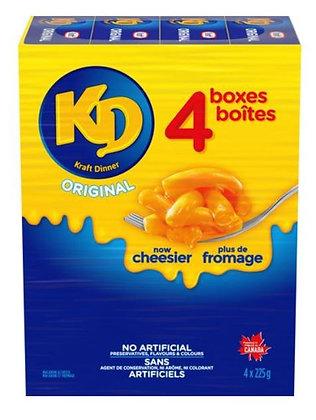 Kraft Dinner Original Macaroni & Cheese 4pack