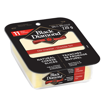 Black Diamond Natural Cheese Slices 220g