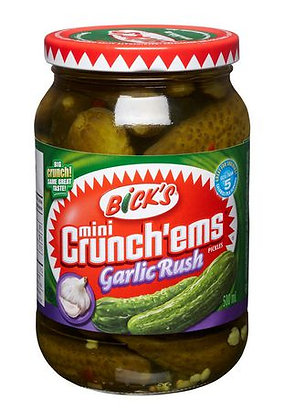 Bick's Mini Crunch'ems Garlic Rush 500ml