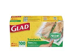 Glad sandwich fold top bag - 100pcs