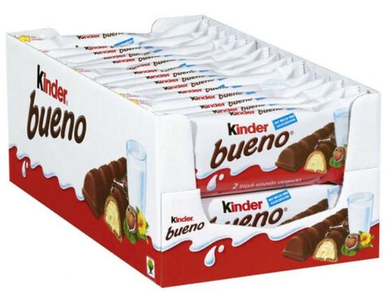 Ferrero Kinder Bueno Chocolate Bars 30 x 43g Box