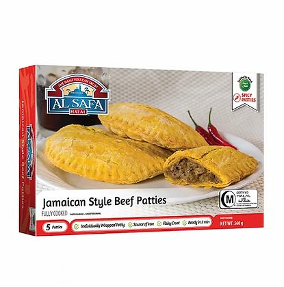 Alsafa jamaican style beef patties (5pc) - 560g