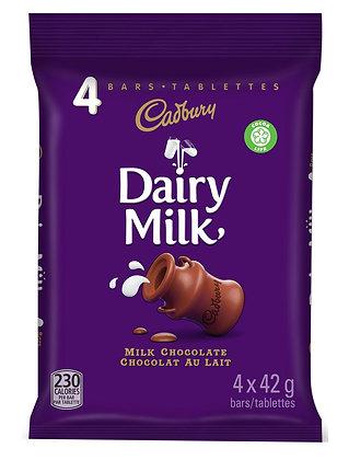 CADBURY DAIRY MILK CHOCOLATE BAR 4pk
