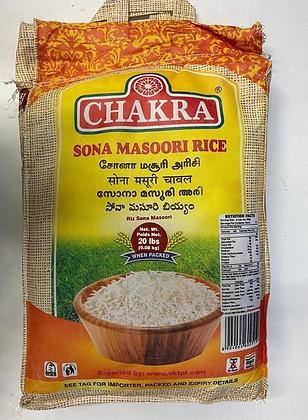 Chakra Sona Masoori Rice (20 lbs)