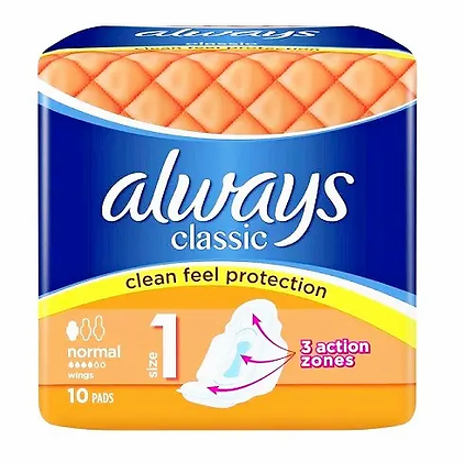 Always classic clean feel protection normal - 10pads