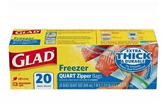 Glad freezer zipper bag - 20pcs