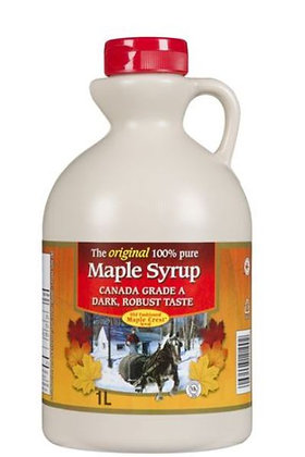 Old Fashioned Maple Crest - Canada Grade A Dark, Robust Taste - Pure Maple Syrup