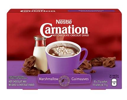 Carnation hot chocolate marshmallow - 25g*10