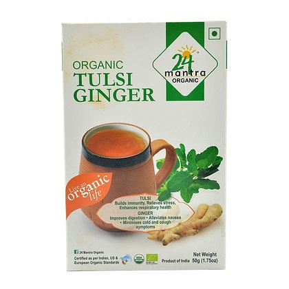 24 Mantra Organic Tulsi Ginger Tea (50 gm)