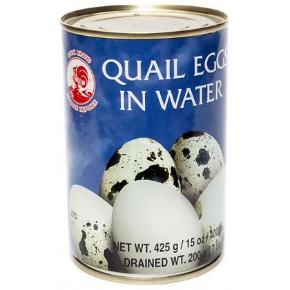 Cock Brand Quail Egg in Water 425g