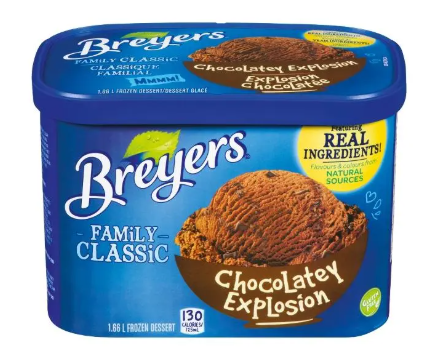 Breyers chocolate explosion